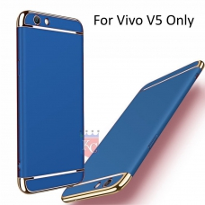 3 In 1 Ultra Thin Hard Coated Matte Surface Back Cover for Vivo V5 -  Blue